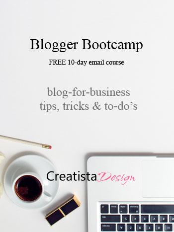 Blogger Bootcamp free ecourse by Creatista Design