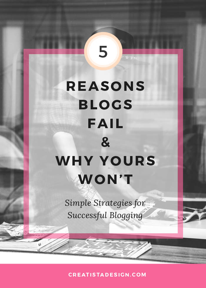 5 Reasons blogs fail and why yours won't: strategies for successful blogging
