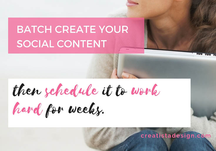 Use scheduling tools to automate your social media posts
