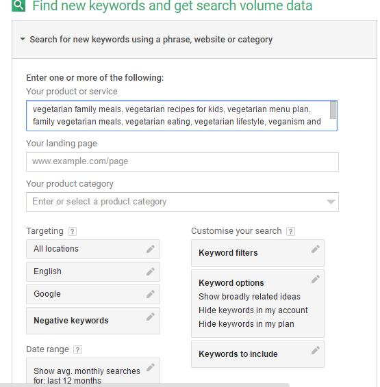 how to use Google Keyword Planner for bloggers
