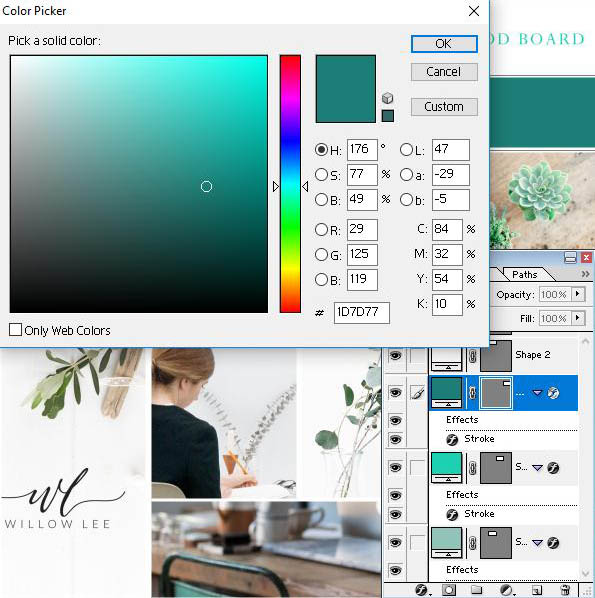 Why you need a brand mood board for your blog or website